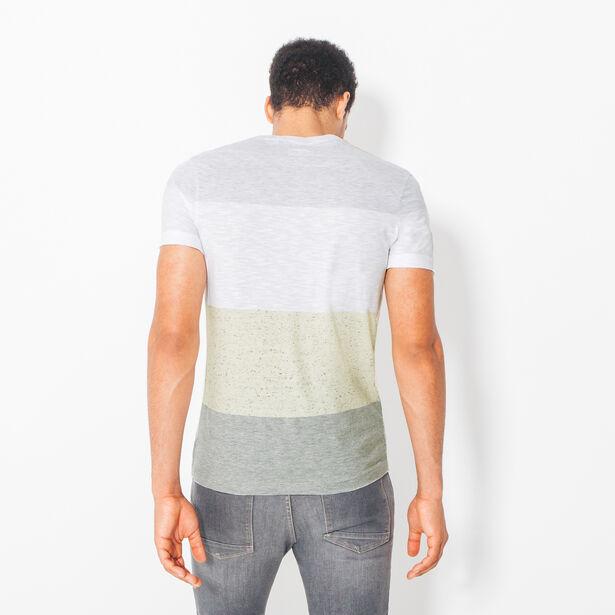 Tee shirt col rond rayé