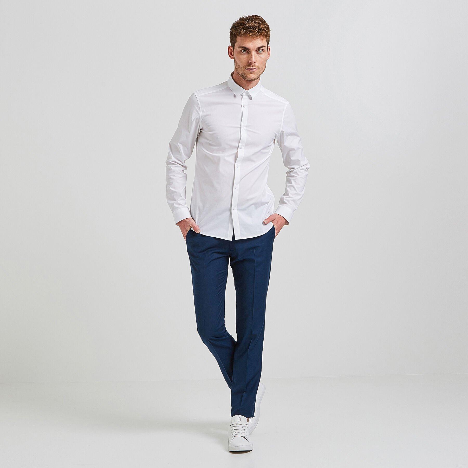 pantalon de costume slim bleu canard homme jules. Black Bedroom Furniture Sets. Home Design Ideas