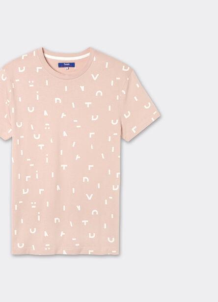 tee shirt imprimé lettres