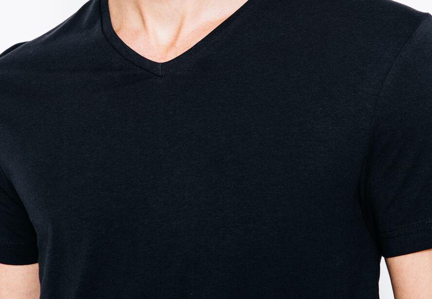 T-shirt col V coton stretch