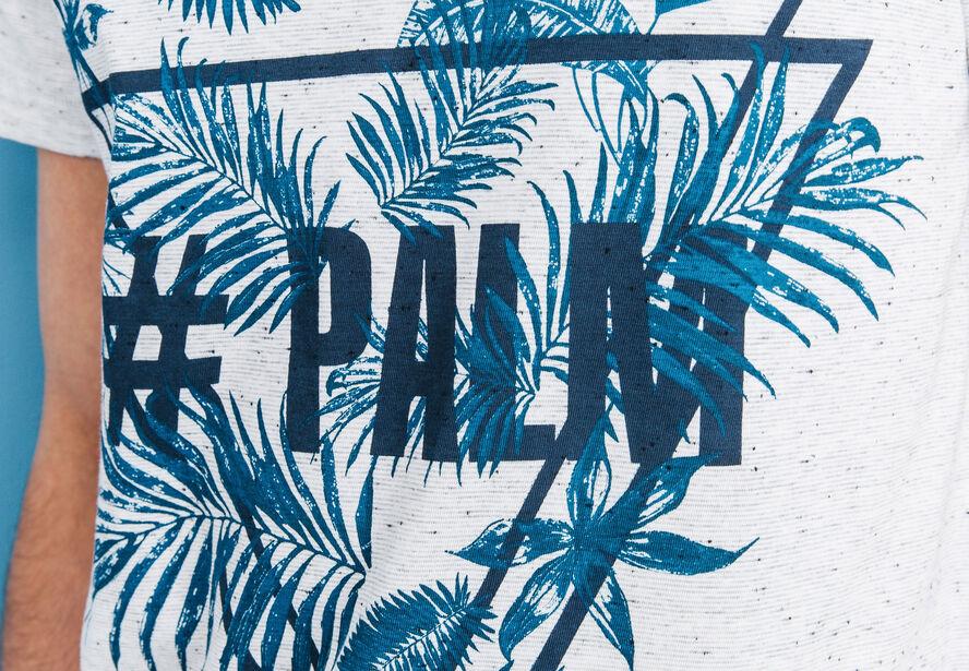 """T-shirt col rond imprimé """"Palm"""""""