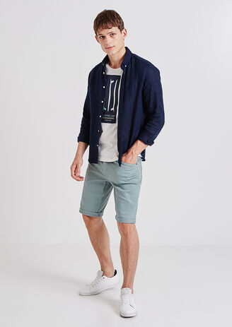 Bermuda 5 poches couleurs