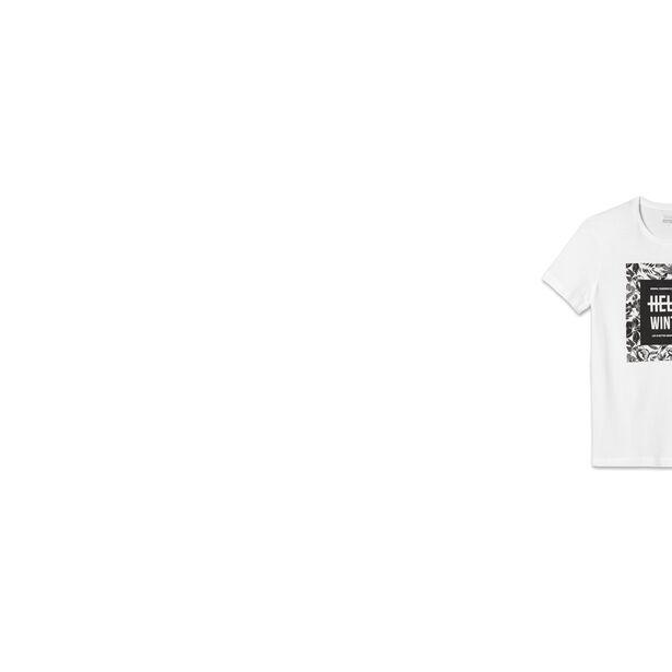 T-shirt col rond Hello winter