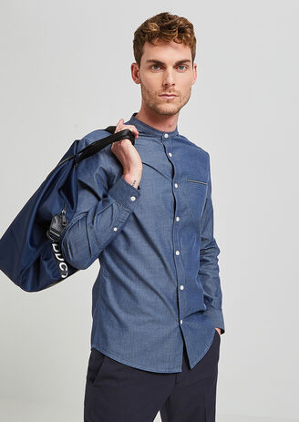 Chemise Regular col officier chambray