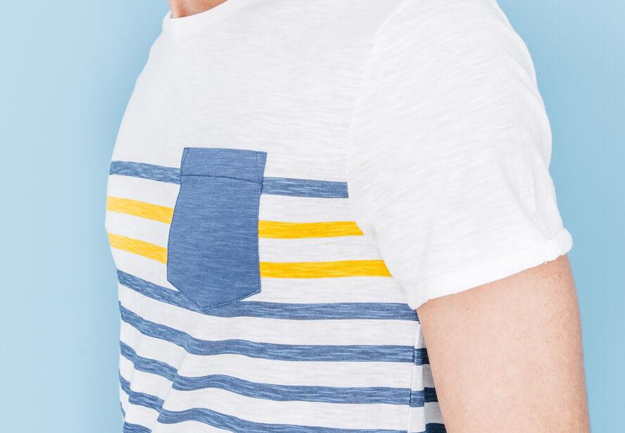 T-shirt col rond rayé 2 couleurs