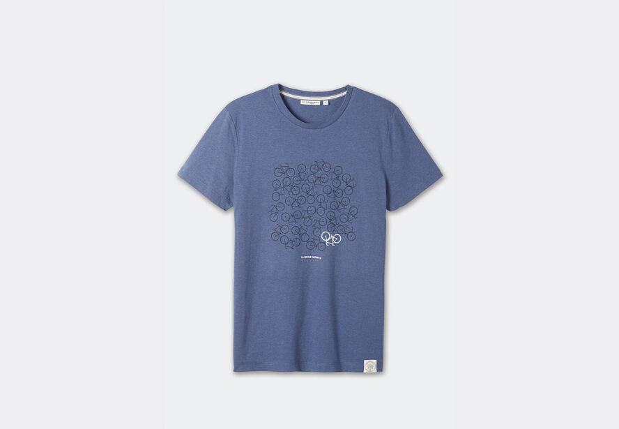 Tee-shirt col rond imprimé vélos