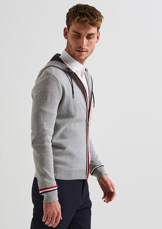 Cardigan à capuche zippé