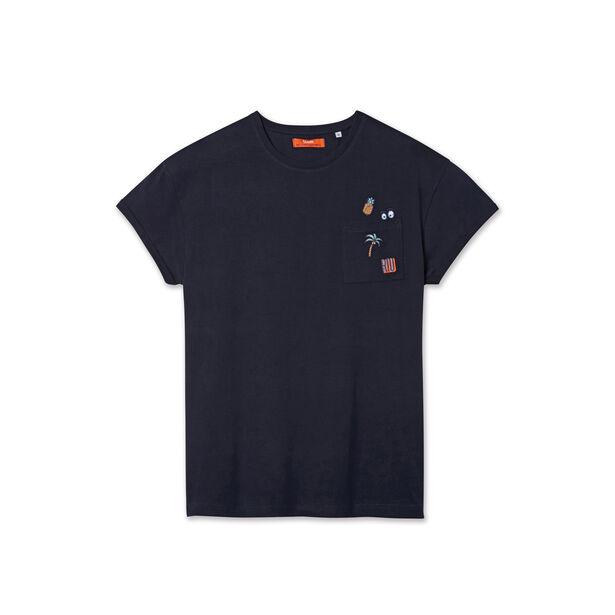 Tee shirt broderies RIO poche