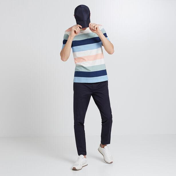 Tee shirt rayé multicolor