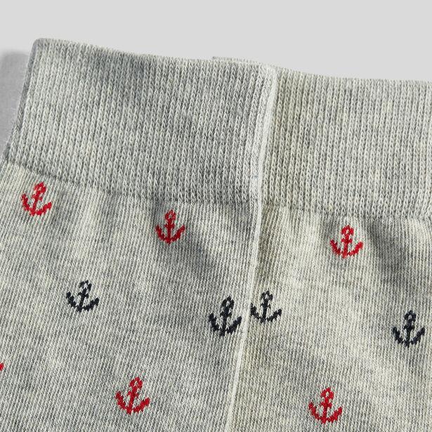 1 paar sokken met ankermotief