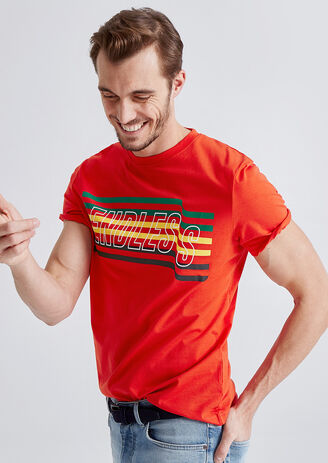 Tee shirt imprimé rainbow endless