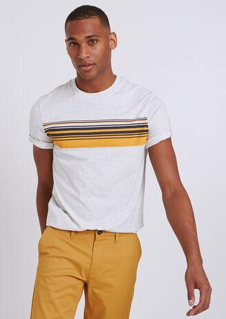 Tee shirt colorblock rayé