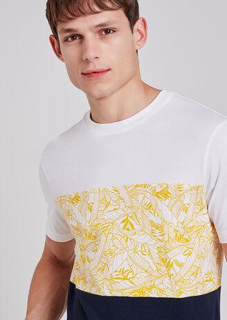 Tee shirt tribande feuillage