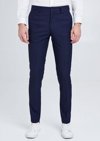 Pantalon de costume slim en maille piquée