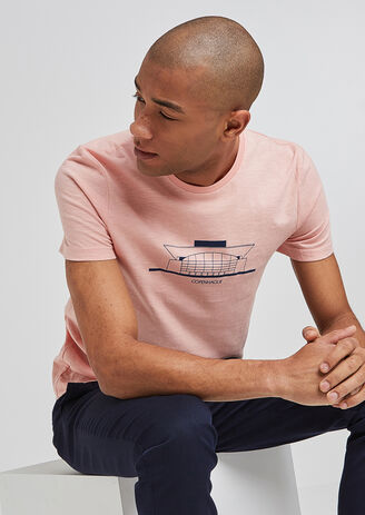 Tee shirt col rond imprimé Copenhague