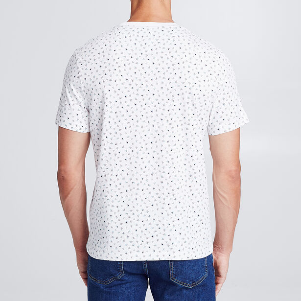 T-shirt imprimé triangle all over avec poche poitr