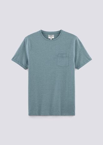 T-shirt met ronde hals micro-gestreept