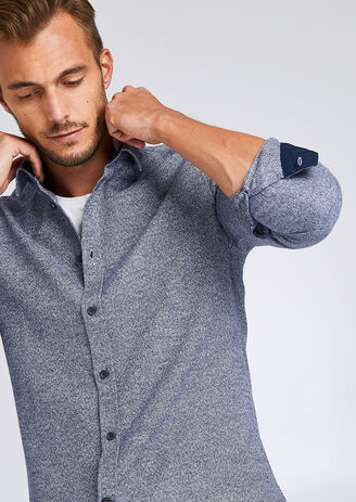 Chemise slim chinée