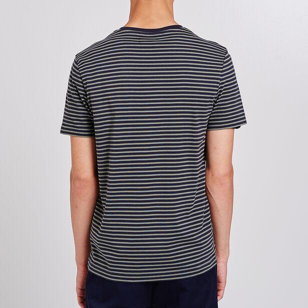 Tee shirt col rond à rayures/marinière