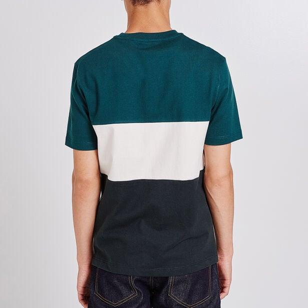 T-shirt ronde hals colorblock