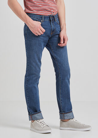 Jeans Straight stone washed