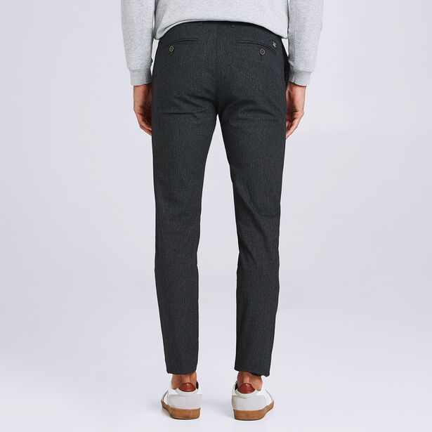 Pantalon slim tissage chevron