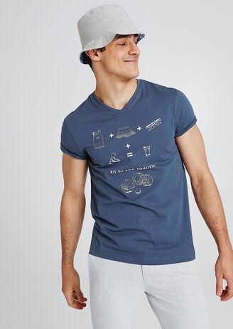 T-shirt met animatie op de borst 'Kit du bon bouli