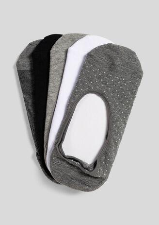 Set van 5 paar onzichtbare sokken