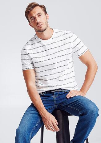 T-shirt, marinestijl, etnische print