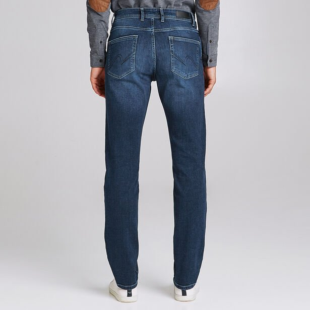 Regular jeans, donkerblauw