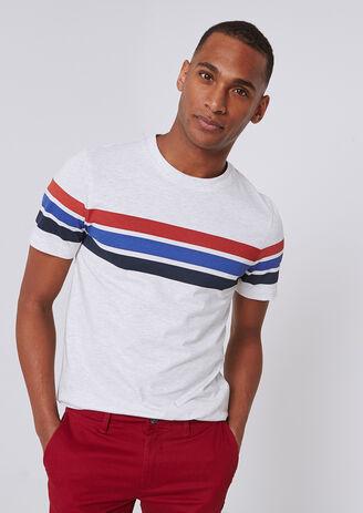 T-shirt met strepen