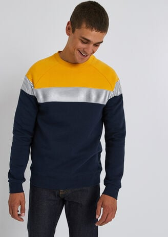 Colorblock molton sweater