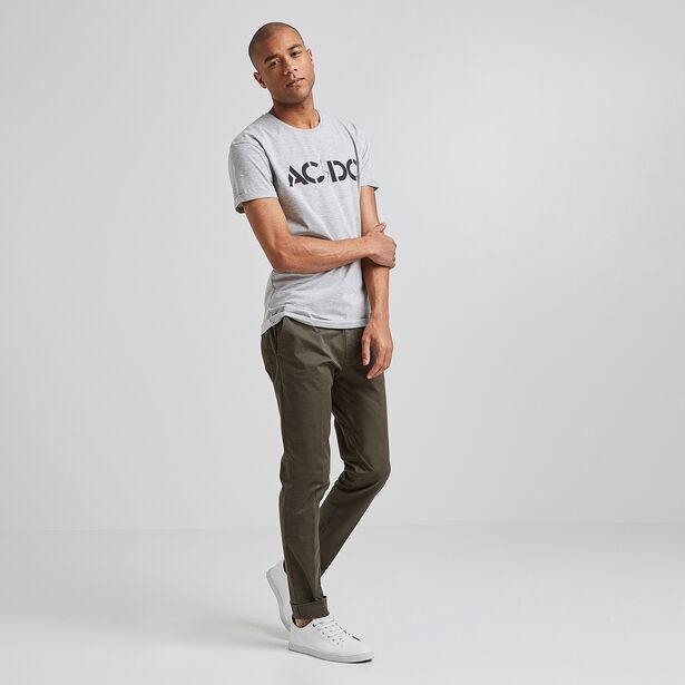 Tee shirt col rond imprimé AC DC