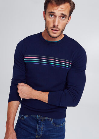 Pull col rond print