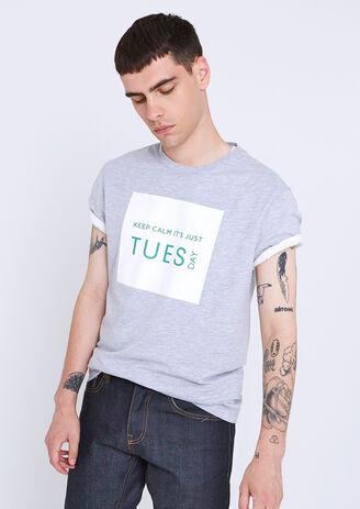T-shirt collo rotondo giorni della settimana ¿Tu