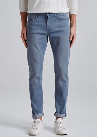 Slim jeans Urbanflex, blauwgrijs