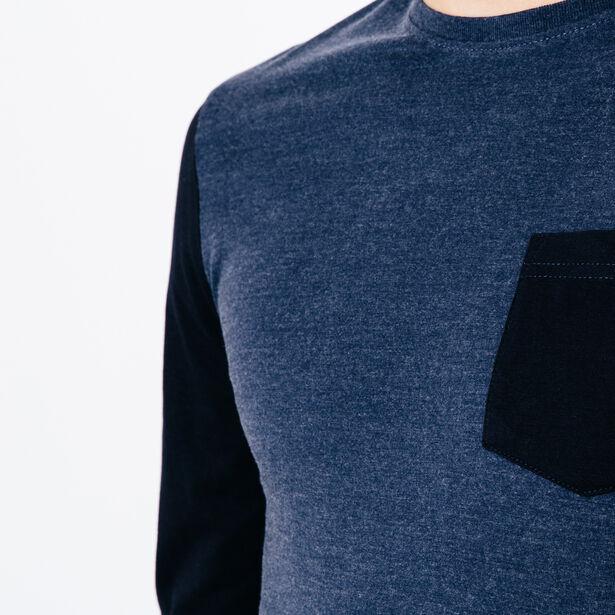 T-shirt col rond bicolore