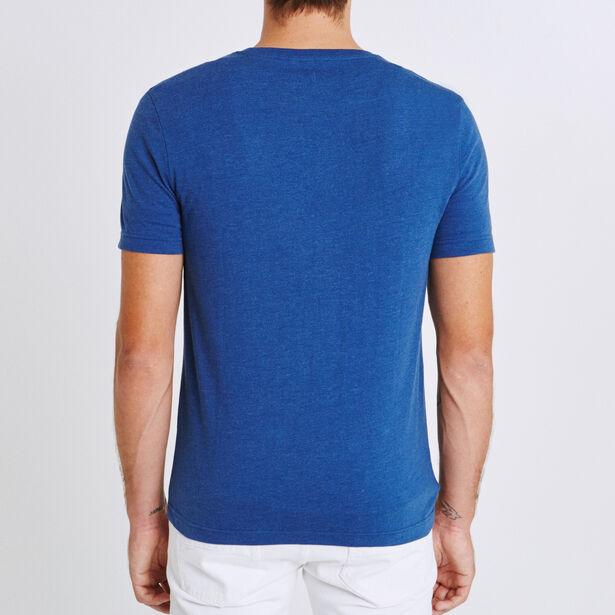 T-shirt ronde hals, met opdruk 'building'