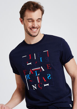 T-shirt met opdruk 'le style à la française', 10