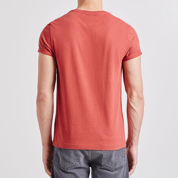 Tee shirt uni col rond