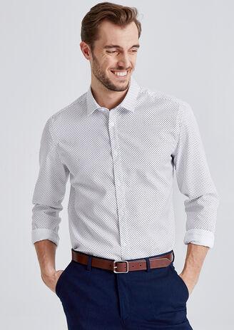 Camicia Regular Stampata No Stiro