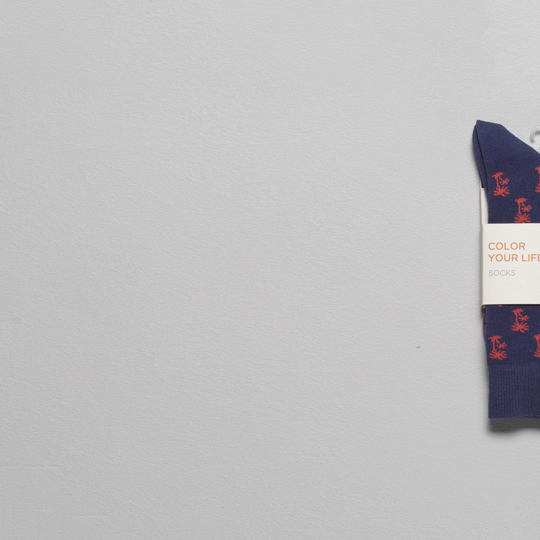 chaussettes motifs palmiers bleu fantaisie homme jules. Black Bedroom Furniture Sets. Home Design Ideas