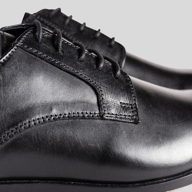 Chaussures de costume homme derby cuir noires