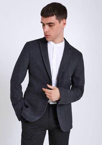 Veste légère laineuse avec pin's