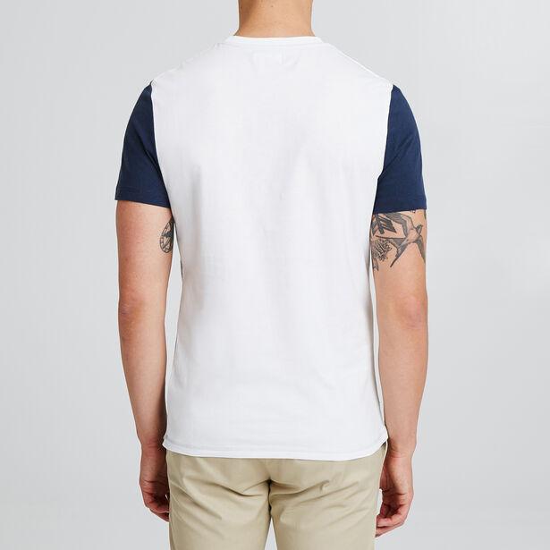 T-shirt colorblock avec print poitrine