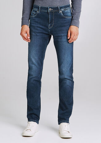 Jean regular 5 poches Stone Wash