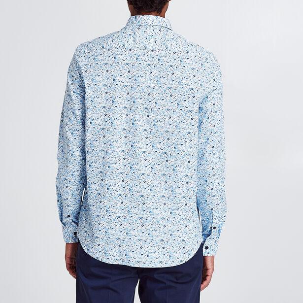 Chemise coupe droite imprimée