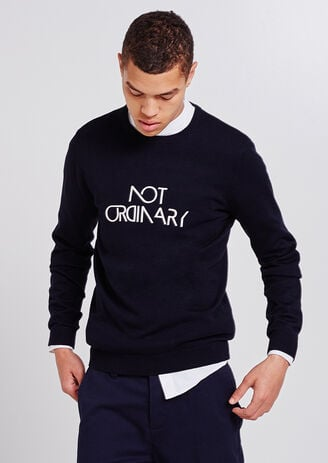 "Pull imprimé ""Not ordinary"""
