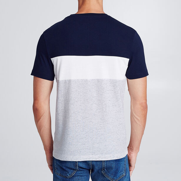 Colorblock T-shirt met borstzak