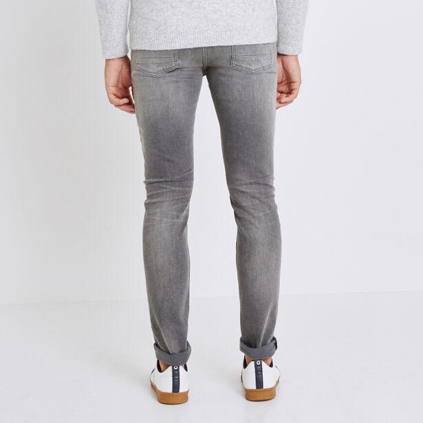 Jeans slim grigio sbiadito
